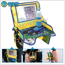 2019 Newest Waterproof Table Car Seat Tray Environmentally Friendly Table Kids Travel Tray with Holder Mesh Storage Stand Desk