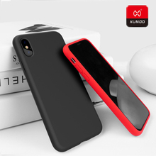 Luxury Fashion XUNDD Brand Original Case For iPhone X 10 7 8 Plus Phone Shockproof Silicone TPU 360 Full Protective Cover Cases