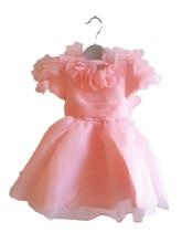 ДЕТСКИЕ WOW Розовый Ребенок Цветок Девочки Платья для Свадеб 1 год Рождения Платье Рождество Платье для Девочки Дети Платье Принцессы 80104