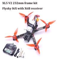 XL5 V2 232 мм True X углеродного волокна Quadcopter комплект GTS2305 2700kv двигателя 3 5 s Пчелка BLHeli программа s 30A ESC Flysky I6 FS I6/FS I6X
