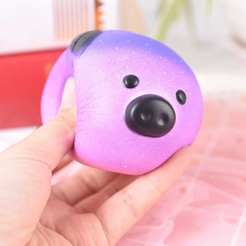 Squeeze squishys galaxy bonito 10 cm panda creme scented squishy engraçado engenhocas anti estresse novidade brinquedos presente lodo brinquedos