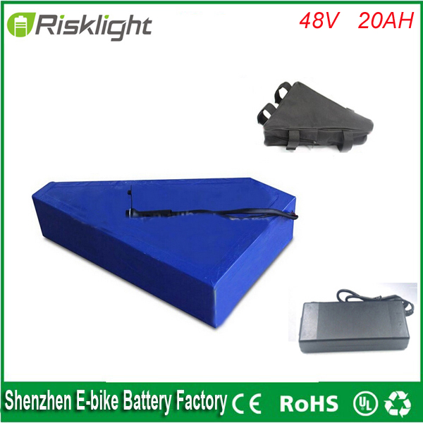 electric bicycle lithium battery 48v 20ah 1000w  electric bike lithium ion battery pack For 48V 1000w/750w 8fun bafang motor 48v 34ah triangle lithium battery 48v ebike battery 48v 1000w li ion battery pack for electric bicycle for lg 18650 cell