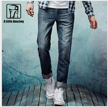 HOT 2016 summer thin men's business casual trousers straight boy Slim 100% cotton jeans tide denim pants singer costumes