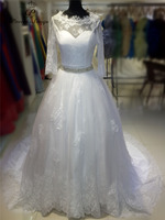 Poemssongs Custom Made High Quality Lace With Jacekt Wedding Dresses Mariage Dress Robe De Mariee Bride