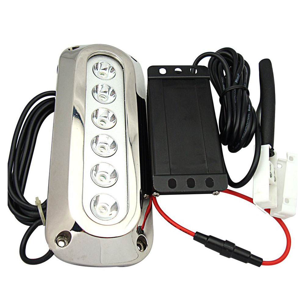 Useful 18w White Stainless Steel IP68 Waterproof LED Marine Underwater Light Boat Yacht light