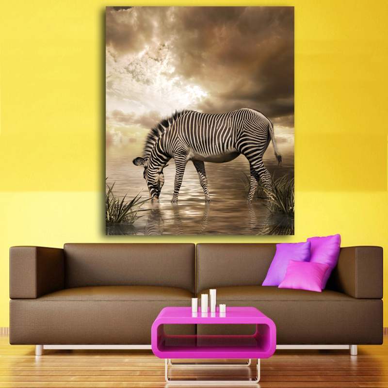 Wildlife Wall Art Print Plus Prints Painted Zebra Canvas Oil Painting On Printing Home Decor Picture