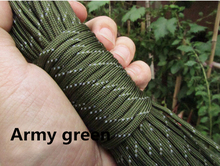 Free Shiping 100 FT 12 Colors Reflective Paracord 550lb 7 Strand Survival  Climbing Camping survival equipment