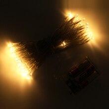 80 светодиодный 10 м гирлянды 3xAA на батарейках Holloween Рождество праздник Свадебная вечеринка сезонные украшения садовые огни