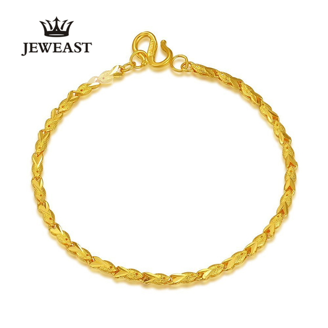 24k Pure Gold Fish Shape Bracelets Firm Connection Intellectuality and Elegant Symbolize Rich 999Solid Gold Bangle new hot sell