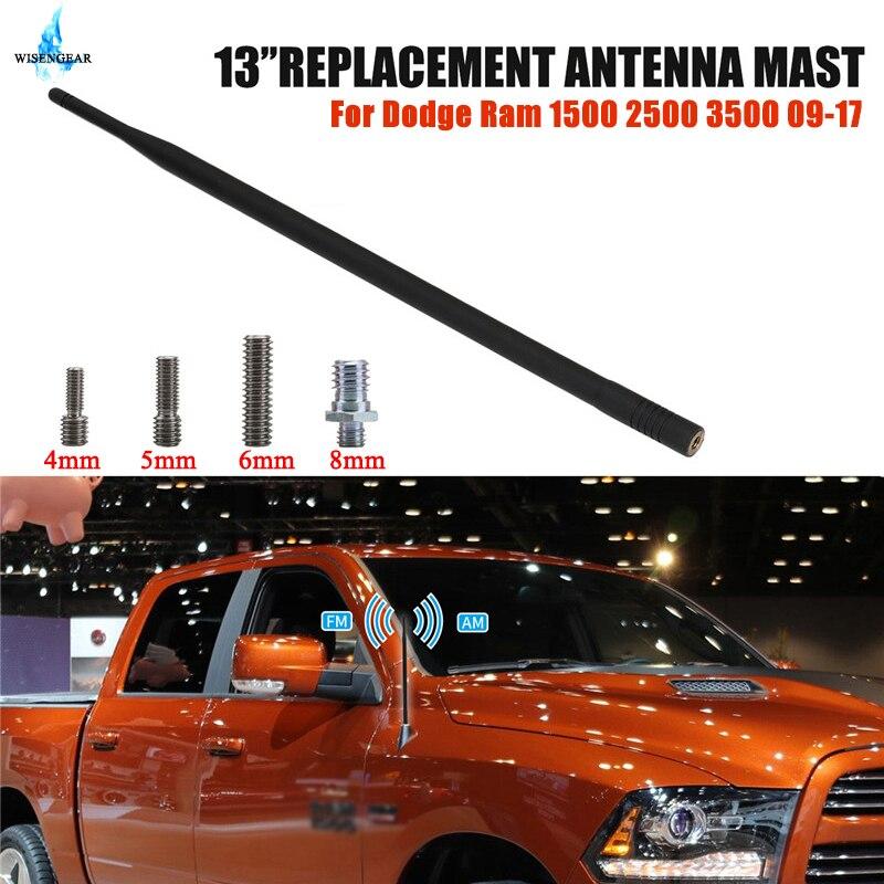 รถ AM เสาอากาศวิทยุ FM เครื่องขยายเสียง Antena อัตโนมัติสำหรับ Dodge Ram 1500 2500 3500 2009-2017 Digital TV booster สัญญาณเสาอากาศ