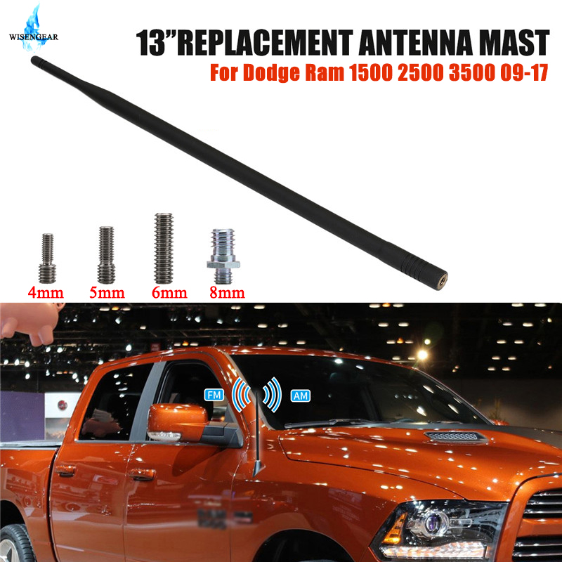 Teto do carro Antena AM FM Amplificador de Antena de Rádio Auto Para Dodge Ram 1500 2500 3500 2009-2017 Sinal De Reforço mastro de antena WISENGEAR/