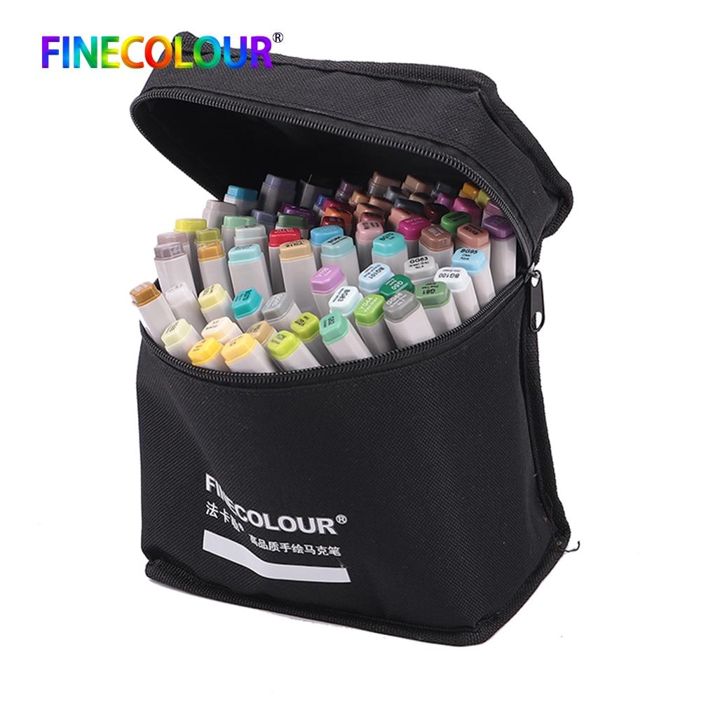 Finecolour 24 36 48 60 72 Pen Marker Set Dual Head Sketch Markers Brush Pen For