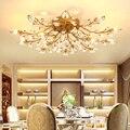 Потолочное освещение в спальню гладить Ретро Дом светильники круглый кристалл потолочный светильник для Гостиная кристалл потолочный све...
