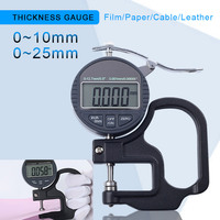 0 10/25mm Digital Thickness Gauge 0.001mm 0.01mm Micron thickness indicator digital leather thickness Meter