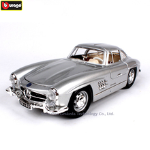 Bburago 1/18 1954 Mercedes 300SL Alloy Retro Car Model Classic Decoration Collection gift