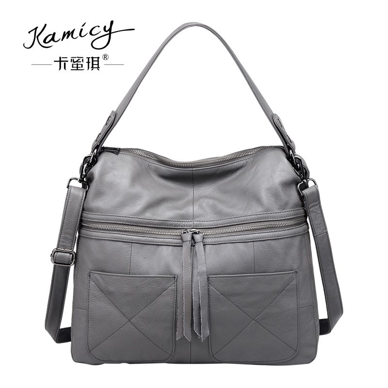 a8215a6ee23d Kamicy 2018 new style lady messenger bag slanting bag single shoulder bag  slanting span simple leather large capacity women bag-in Shoulder Bags from  ...