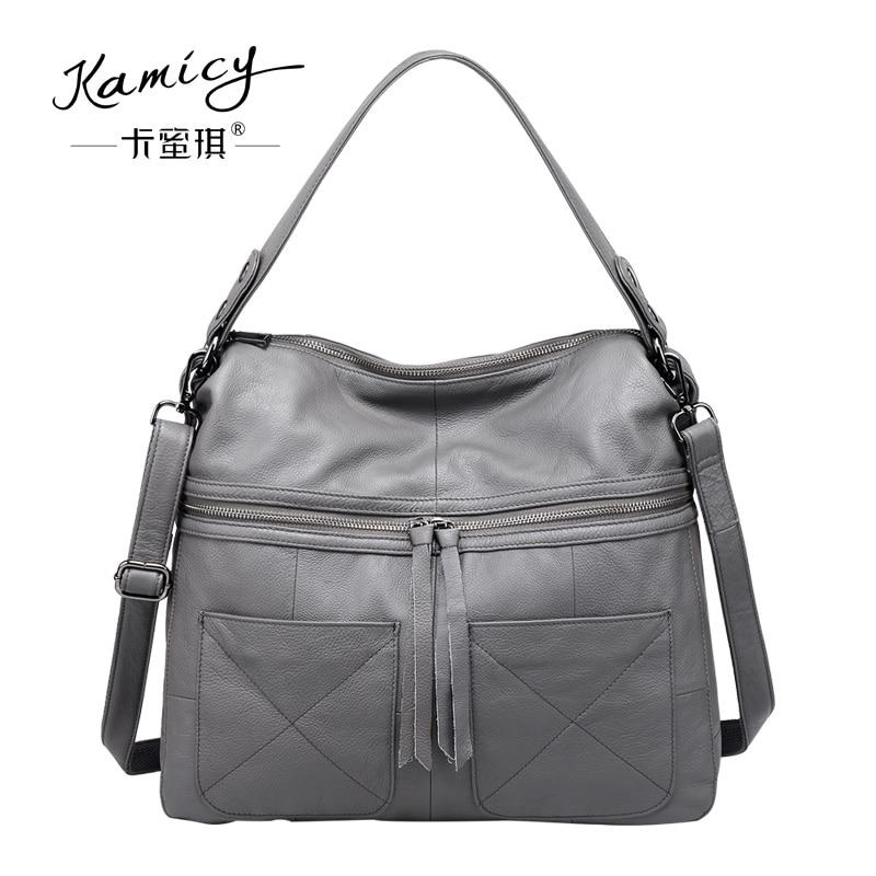 f9f0b9c0d718 Kamicy 2018 new style lady messenger bag slanting bag single shoulder bag  slanting span simple leather large capacity women bag-in Shoulder Bags from  ...