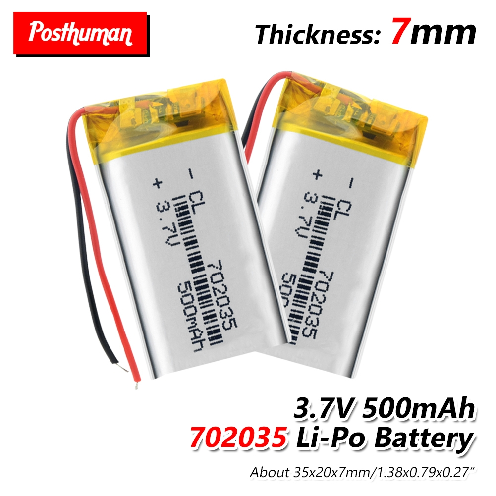 702035 Rechargeable Polymer Battery 500 Mah 3.7V Li-ion Battery For Smart Home Speakers Dvr GPS Mp3 Mp4 Power Bank Game Player