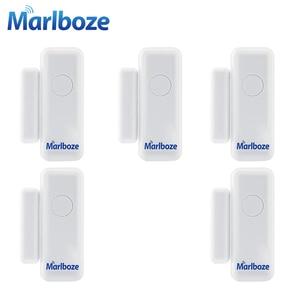 Image 1 - 5ชิ้นMarlboze 433เมกะเฮิร์ตซ์ไร้สายหน้าต่างประตูการรักษาความปลอดภัยสมาร์ทช่องว่างเซ็นเซอร์สำหรับของเราPG103 Home Security WIFI GSM 3กรัมGPRSปลุกระบบ