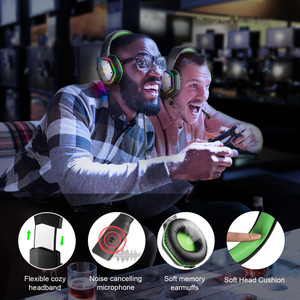 Image 5 - EKSA E1000 Gaming Headphones With Noise Cancelling Microphone RGB Light 7.1 Surround Sound Wired Gaming Headset Gamer For PS4 PC