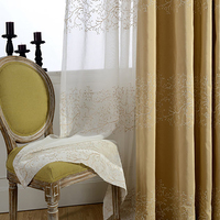 Blackout Curtains For Living Room Bedroom Window Gone Curtain Semi Shade Cloth Curtain Embroidered Sheer Curtains