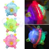 LED Jumping Joggle Light Music Flashing Bouncing Vibrating Jump Ball Toy %328/319