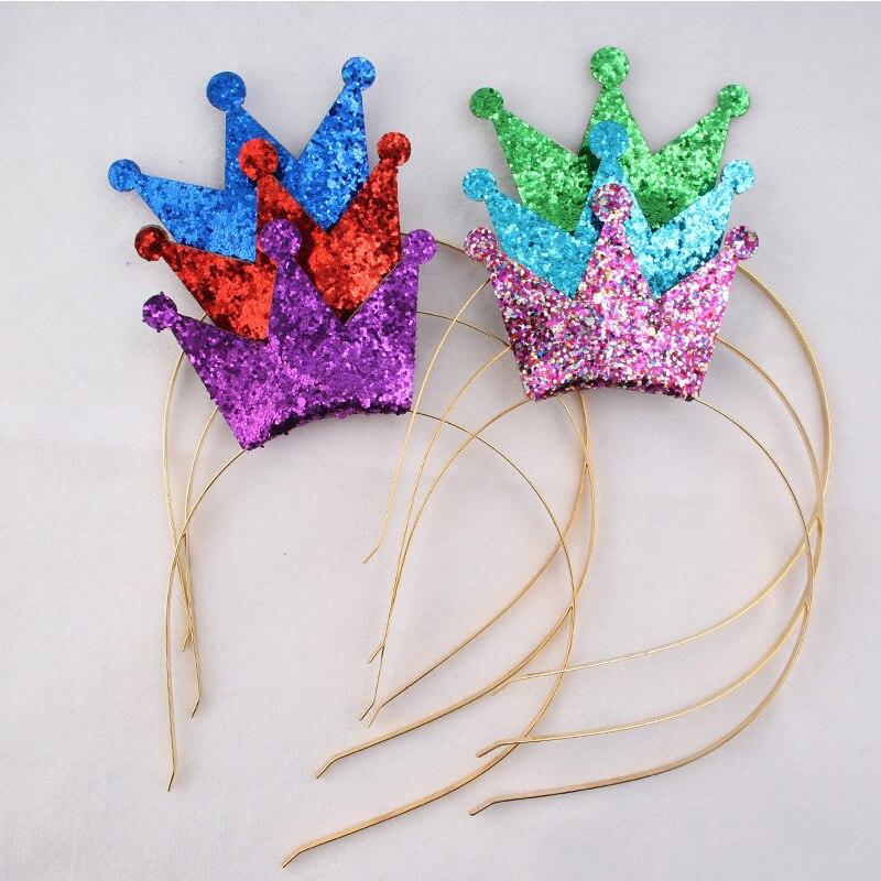 12pcs/lot Crown Headband Elastic Hairband Hair Acc...