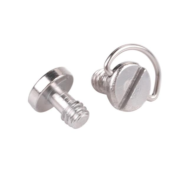 Kaliou Photo Studio accessoires plaque de fixation rapide 1/4 vis précision petit c ring d ring vis pour trépied de caméra monopode