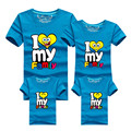 1Psc New Family Matching Outfits T-shirt 8 Color Clothes For  2016 Summer family clothes mother father daughter son Top Clothing