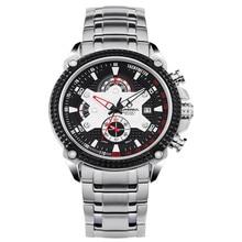 Fashion men's watch stainless steel sports Luxury watches multifunctional quartz watch men watches Waterproof 100mCASIMA# 8207