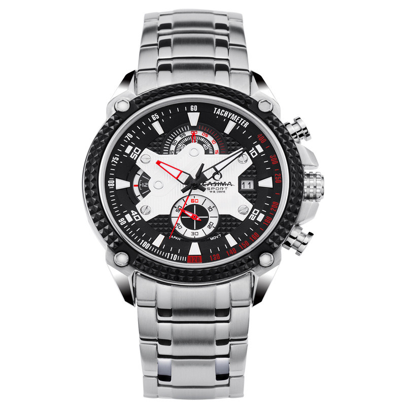 Fashion men's watch stainless steel sports Luxury watches multifunctional quartz watch men watches Waterproof 100mCASIMA# 8207 casima st 8207 s8