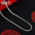 Beier nueva tienda 100% 925 plata esterlina collares colgantes de moda collar de cadenas de joyería fina para las mujeres/hombres br925xl081