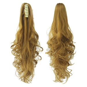 Feibin Pony tail Hair For Women Claw Clip In Hair Extensions Synthetic Drawstring Wave Hairpiece 24 inch 60cm yw592