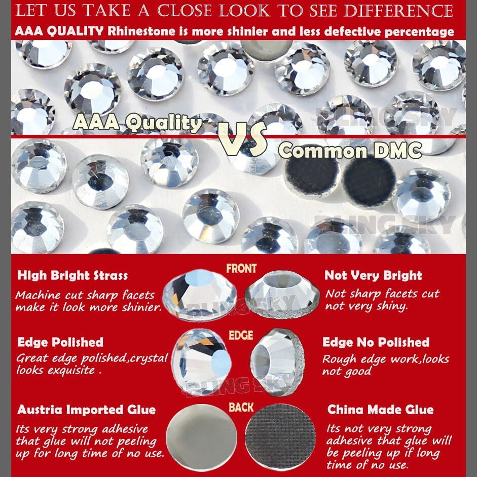 Bra kvalitet! AAA HotFix Rhinestone SS20 Klar Crystal 1440st / Bag - Konst, hantverk och sömnad - Foto 5