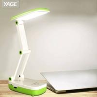YAGE 5918 led desk lamp 2 Modes 1.6W/90V240V Mini table lamp 2-layer Foldable Body USA/EU/UK Plug Blue/Green/Pink color for work