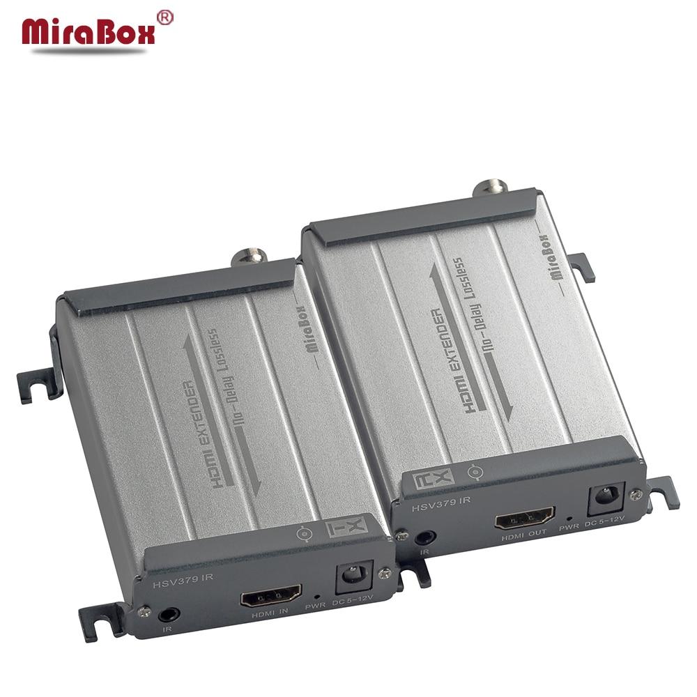 MiraBox HDMI Extender Over Coaxial Cable Transmit 200m Support 1080p Full HD IR Via Coax Coaxial Cable BNC Port HDMI Over Coax