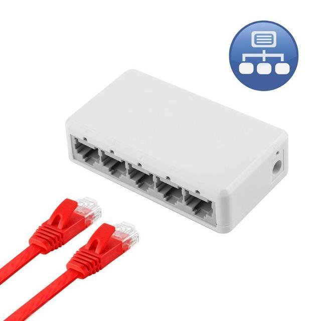 5/10 Port Anahtarı 10 100 Mbps RJ45 LAN Ethernet Hızlı Masaüstü Ağ Anahtarlama Hub USB Güç Kaynağı Aksesuarları