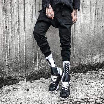 Autumn more pockets personality fashion harem pants mens trousers pantalones hombre cargo feet pants for men pantalon homme