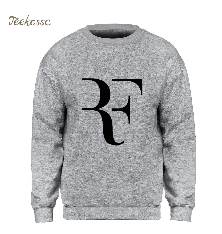 271513b3 РФ Роджер Федерер теннис Толстовка для мужчин Hipster тонкий черный кофты  зима осень флис теплый новый