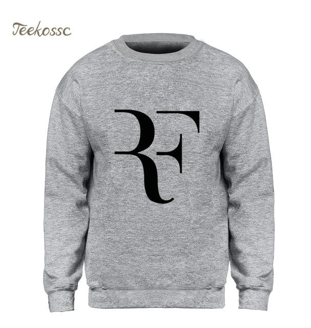 a5eb4141 RF Roger Federer Tennis Sweatshirt Men Hipster Hoodie Slim Black  Sweatshirts Winter Autumn Fleece Warm New Brand Sportswear Mens