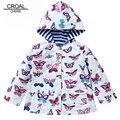 80-130 cm Moda Casacos Com Capuz Casacos Primavera Crianças Meninas Jaqueta Crianças Borboleta Roupas Meninas Trench Coat Blusão