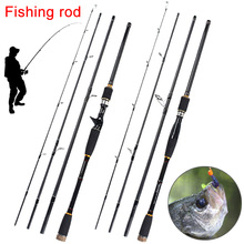 Lure Rod 4 Section Carbon Spinning Fishing Travel Casting Fishing Pole Saltwater Rod B2Cshop
