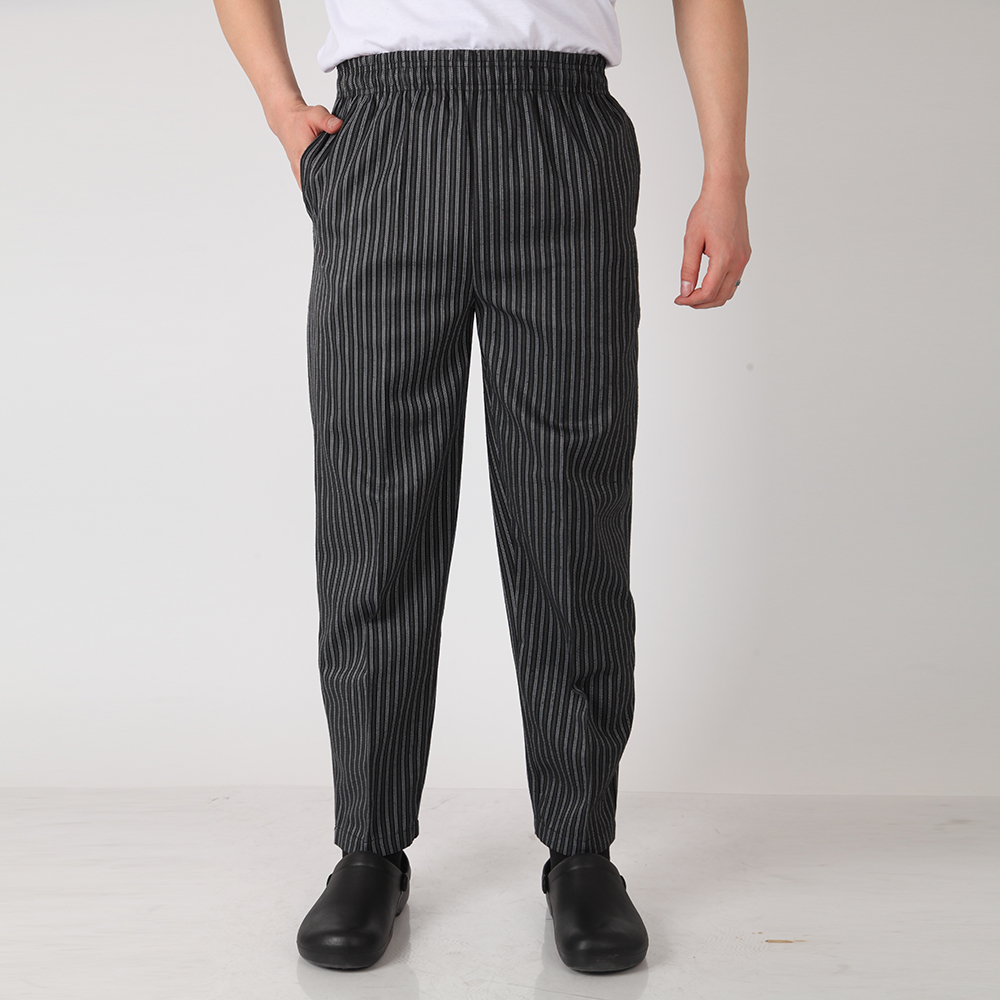e2a912a219685b Men Chef Restaurant Kitchen Work Elastic Waistband Cozinha Hotel Food  Service Working Pants Long Trousers with Pockets-in Bottoms from Novelty &  Special Use ...