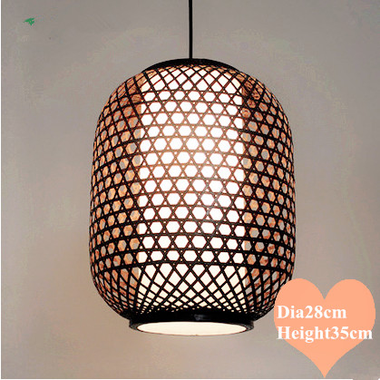 Southeast Asia style hand knitting bamboo art Chandelier Coffee E27 LED lantern lamp for porch&parlor&stairs&corridor LHDD036