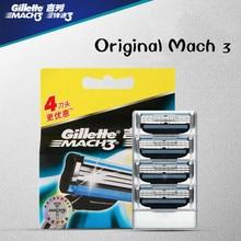 цена на Genuine Gillette Mach 3 Men Manual Shaving Razor Blades For Men Brand Blade To Shave