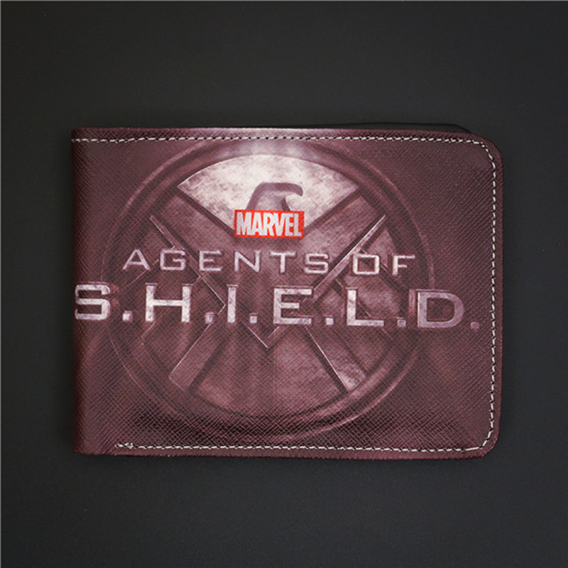 New Wallets Comics DC Marvel  Agents of SHIELD Cartoon Animation Gift Purse  LOGO Credit OYSTER LICENSE CARD Holder Wallet vn in the summer of 2016 popular american tv drama aegis bureau agents luminous printing logo backpack trend a surprise gift