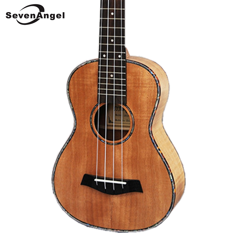 SevenAngel Brand23 Ukulele stripes okoume Hawaiian Guitar Rosewood Fretboard 4 strings Concert Electric Ukelele with Pickup