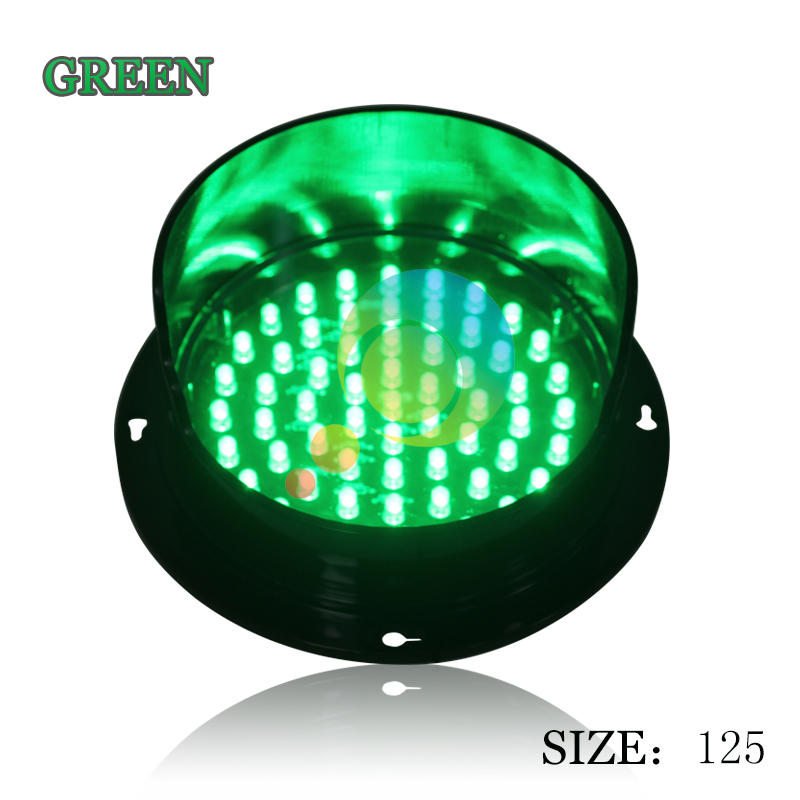 DC12V LED Traffic Signal Light Customized 125mm Traffic Lamp Hot Selling Traffic Light Replacement