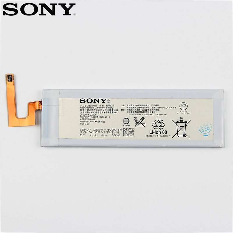 Original Replacement Sony Battery For SONY Xperia M5 E5603 E5606 E5663 E5653 Genuine Phone Battery 2600mAh