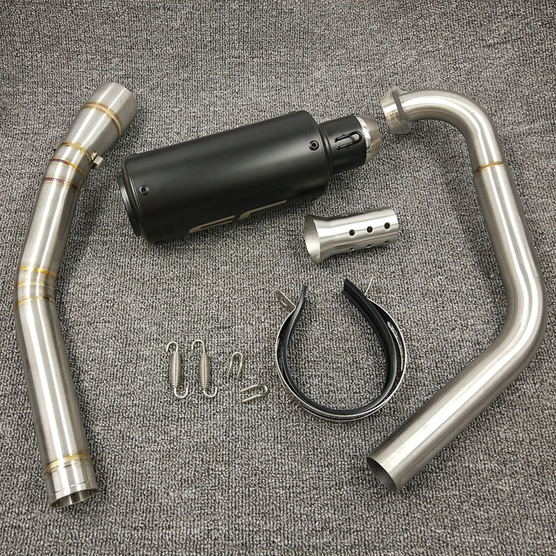 YZF R15 MT15 Full Set Modify Exhaust Muffler Middle Link Pipe Stainless Steel For YZF R15 MT-15 2008-2017 MT 125 (16)